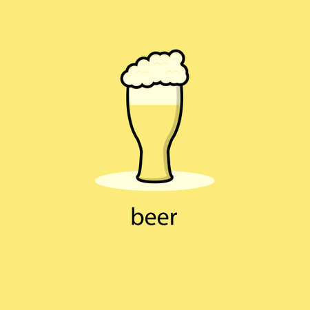 Cute beer mascot character collection. Vector cartoon illustration design. Isolated. Happy international beer day concept.