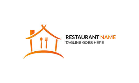 Food Restaurant Logo Design Simple. Isolated on white background.