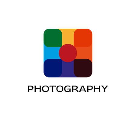 Photography logo colorful design illustration. Isolated on white background.