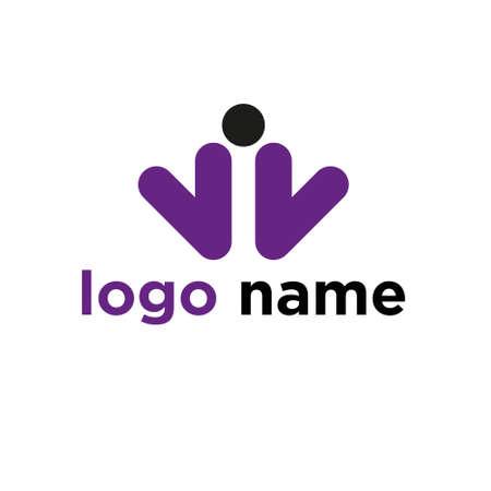 Company logo colorful design illustration.