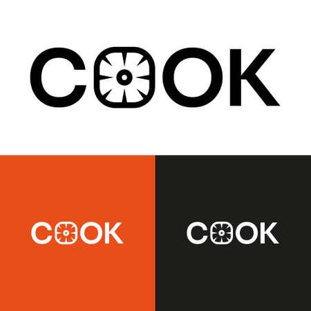 Restaurant logo design illustration set. Isolated.