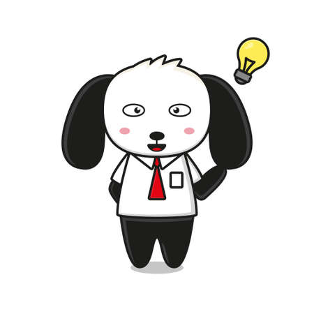 Cute dog mascot character business theme