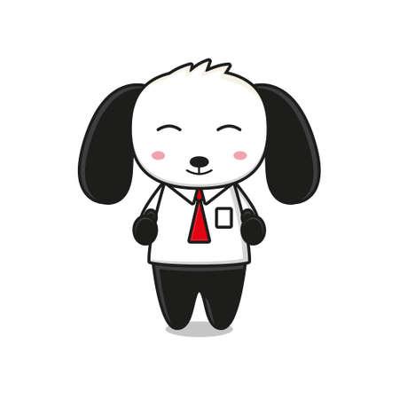Cute dog mascot character business theme Ilustração