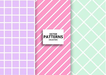 Pastel color seamless Geometric patterns.