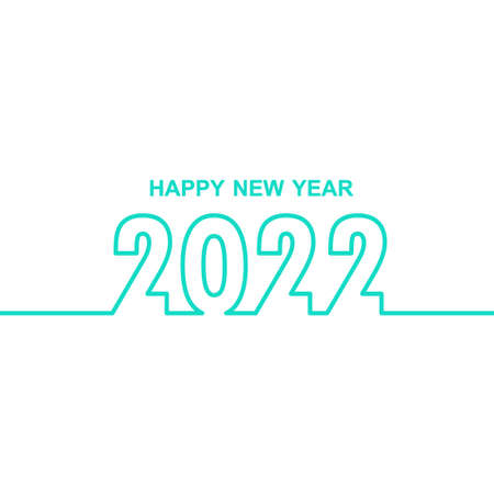 Happy New Year 2022. Cover of business diary for 2022with wishes. Brochure design template, card, banner. Vector illustration.