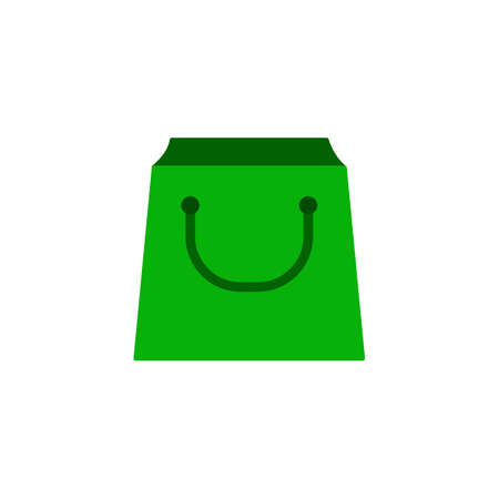 Shopping bag icon. Illustration in flat style.