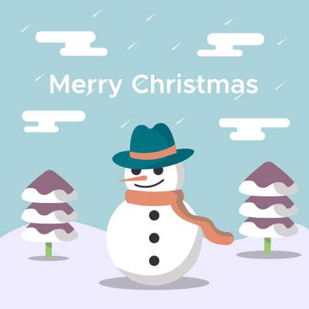 nice snowman christmas design
