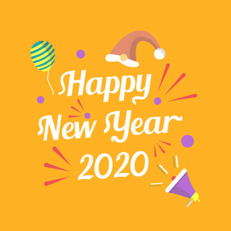 happy new year 2020 template design