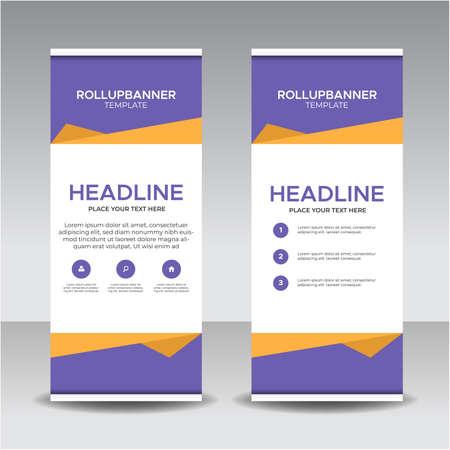 Advertising signboard design, Easy editable. Ilustração Vetorial
