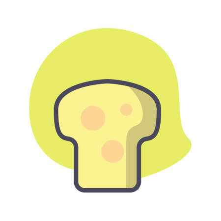Simple bread flat icon design illustration, Can be used for many purpose.
