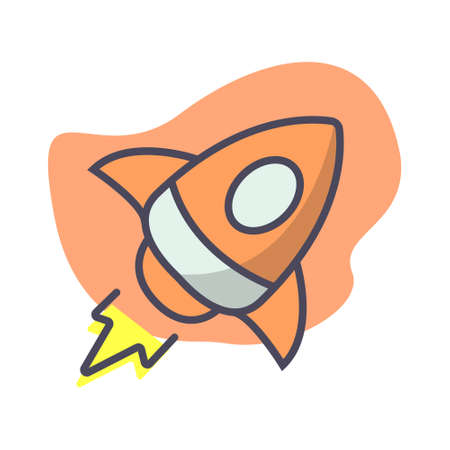 Simple rocket icon design illustration, Can be used for many purpose.