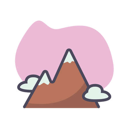 Simple mountain flat icon design illustration, Can be used for many purpose. 일러스트