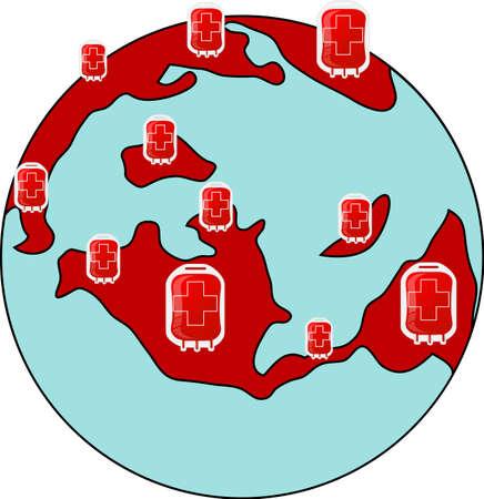 Blood Donors to The World Ilustração