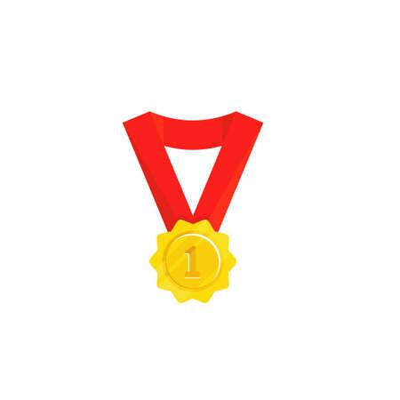 Gold Medal Design Vector