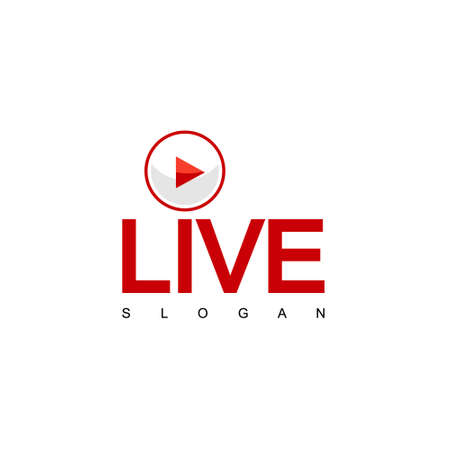 Live Steam Design Vector, TV Logo