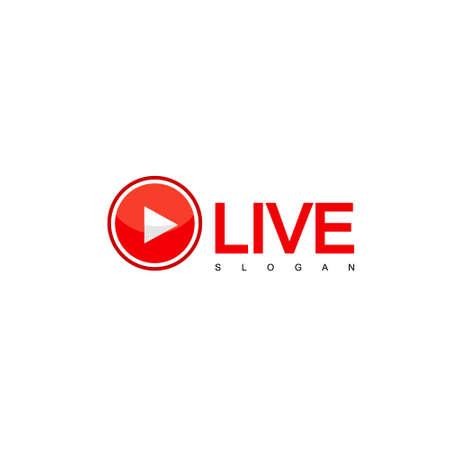 Vecteur de conception de vapeur en direct, logo TV Logo