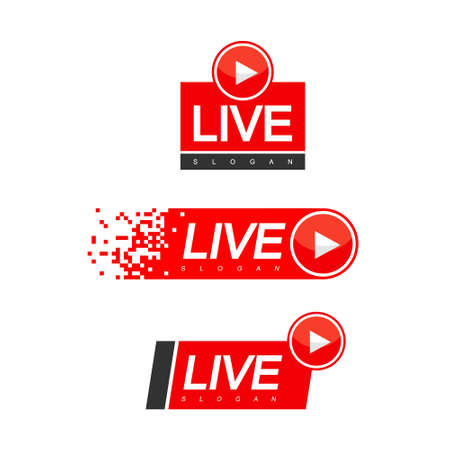 Live Streaming Design Vector