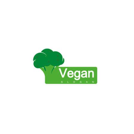 Broccoli  , Vegan Label Design Vector