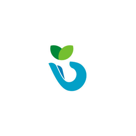 Ecology Logo, Leaf In Hand Icon Design 向量圖像