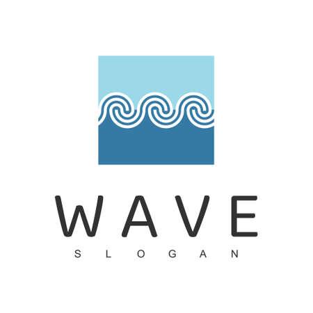 Wave Line Logo Design Template