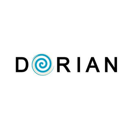 Dorian Hurriance, Tornado Design Template Ilustración de vector