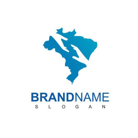 Brazil Charity Logo Design Template Logo