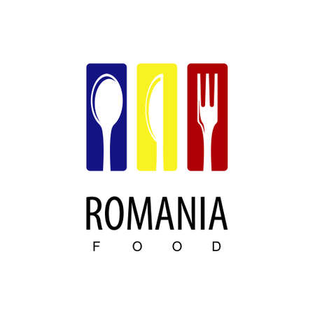Romania Food, Restaurant Logo