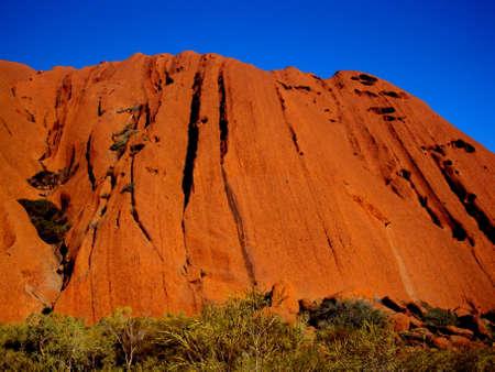 Red Uluru, ayres rock walk around in Uluru-Kata Tjuta National Park in Northern Territory