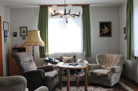 Grandfathers living room with window