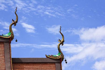 apex: gable apex of church in a temple thailand
