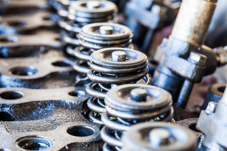 Components Of An Automobile Engine, Part Of The Old Engine Stock ...