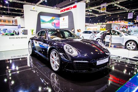 motorshow: BANGKOK, THAILAND - MARCH 27 : Porsche 911 Carrera S displayed at Thailand 37th International Motorshow 2016 Arina, Muangthong Thani, on March 27, 2016. Bangkok, Thailand. Editorial