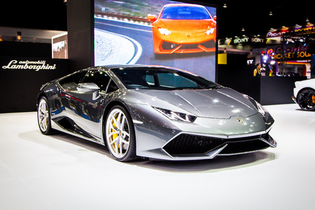 lamborghini: BANGKOK, THAILAND - MARCH 27 : The Lamborghini Aventador displayed at Thailand 37th International Motorshow 2016 Arina, Muangthong Thani, on March 27, 2016. Bangkok, Thailand. Editorial
