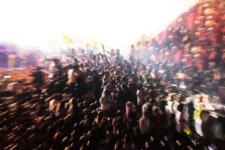 fussy: People chaotic in concert abstract background blur motion, Effects crystal technique Stock Photo