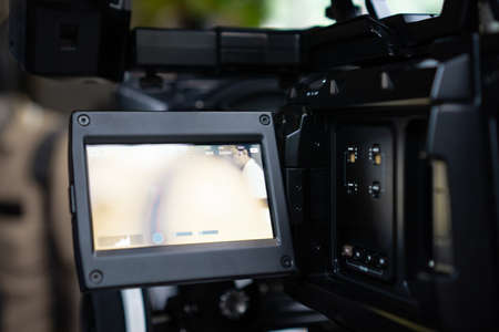 Close up part of detail video camera, behind the scenes - Image
