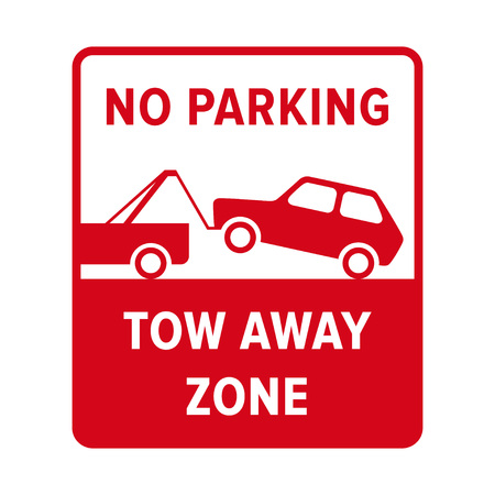 parking sign: No parking sign. Illustration