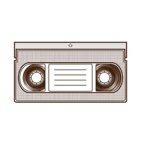 videocassette: Cinta de vídeo aislado en el fondo blanco.