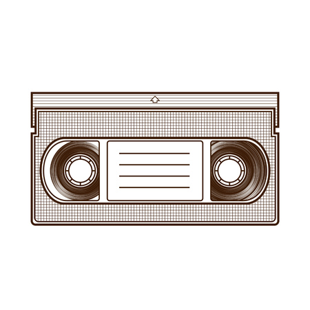 videocassette: Videocassette isolated on white background.