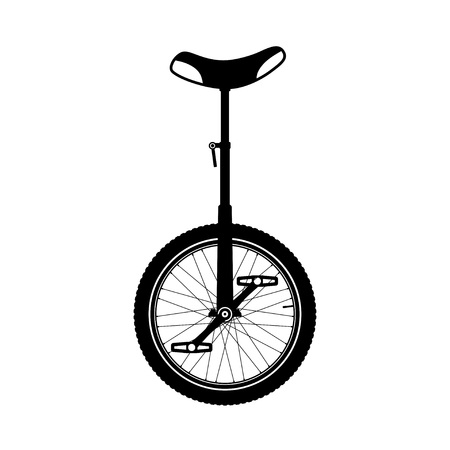 Monocycle silhouette. Illustration