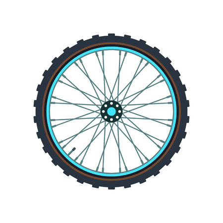 Montaña símbolo de la rueda de la bicicleta.