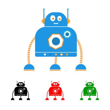 baby playing toy: Robot logo. Illustration