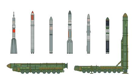 missile: Intercontinental ballistic missile Topol-M and rockets.