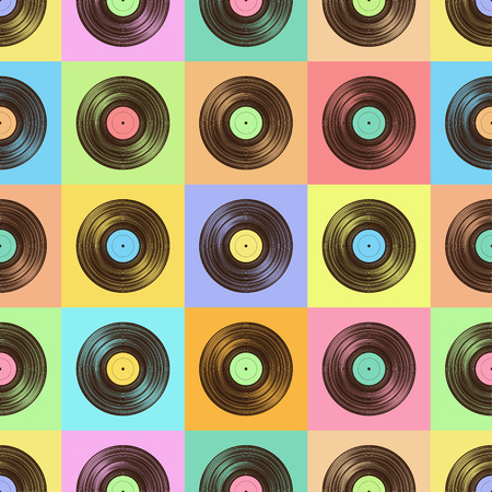 Vinyl disk transparent pattern. Illustration