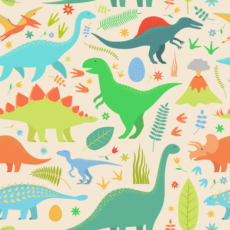 Dino seamless pattern. Illustration