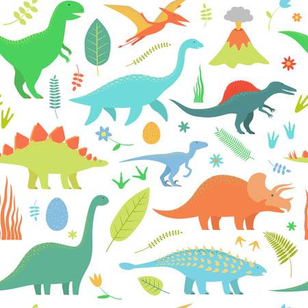 Dino seamless pattern. Illustration