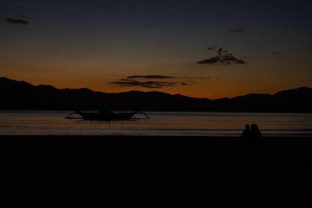 Night under stars in palawan, Port Barton, Philippines