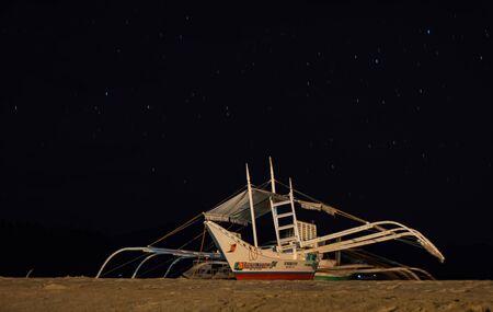 Night under stars in palawan, Port Barton, Philippines. High quality photo