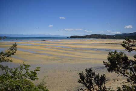 panoramic beach south island, new zeland
