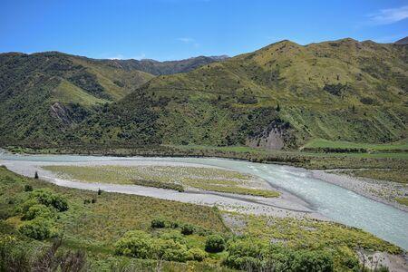 south island, new zeland canterbury region  Stok Fotoğraf