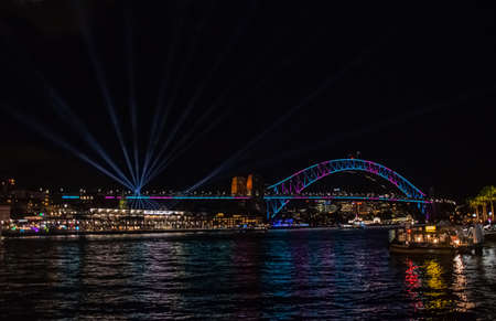Night panoramic cityscape from Sidney on february, 2018